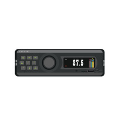 Car radio recorder vector