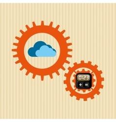 Cloud computing design vector