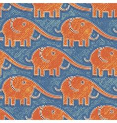 elefants print vector image vector image