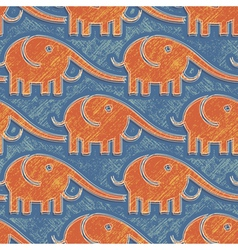elefants print vector image