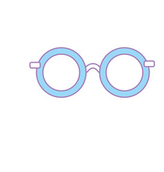 Glasses with fashion style design vector