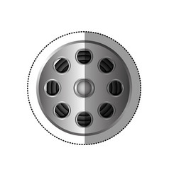 grayscale sticker with cinematography tape vector image