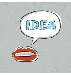 Lips talk idea word vector