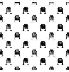 Metal dust bin pattern vector