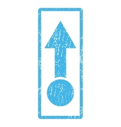 Pull up icon rubber stamp vector