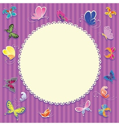 retro greeting card background vector image