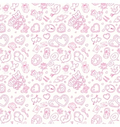 Seamless wedding patterns vector image vector image