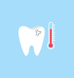 Sensitive tooth flat icon vector