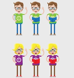 Smart kids vector image