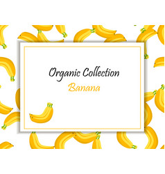 square label banana jam sauce or juice vector image