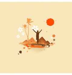summer vacations desert vector image vector image
