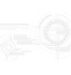 technological white texture hud display vector image vector image