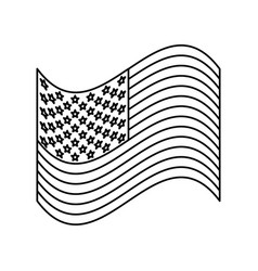 United states flag vector