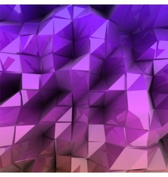 Violet triangle abstract background vector image vector image