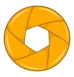 Yellow shutter icon cartoon style vector