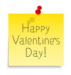 Happy valentines day congratulation vector