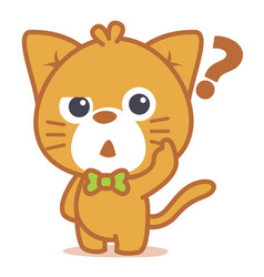 Thinking cat character style collection vector