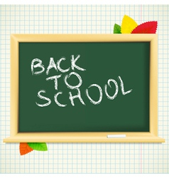 School blackboard background vector image