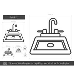 Sink line icon vector
