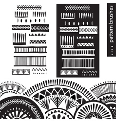 Pattern brushes vector
