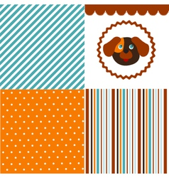 Baby pattern set vector