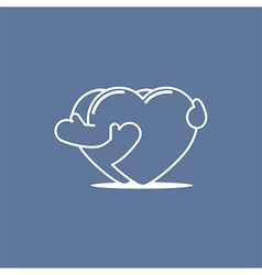 Embracing hearts 01 vector
