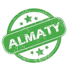 Almaty green stamp vector