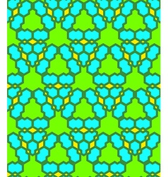 Green blue yellow abstract geometric seamless vector