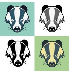 Badger mascot head emblem vector