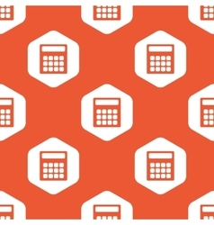 Orange hexagon calculator pattern vector
