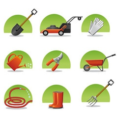Web icons garden tools vector