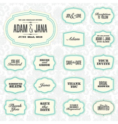 Vintage frame stickers vector