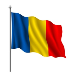 Flag of Romania vector image
