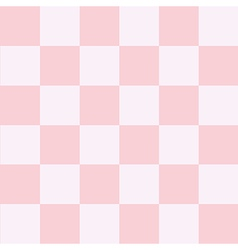 Pink white chess board background vector