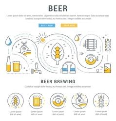 Beer web banner vector
