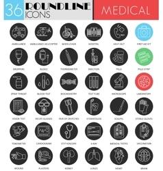 Medical medicine circle white black icon vector