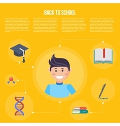 Back to school infographics concept vector