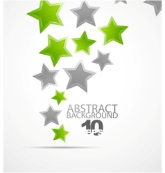 abstract background color stars vector image