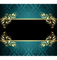 aquamarine card with pattern vector image vector image