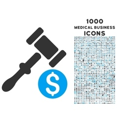 Auction Icon with 1000 Medical Business Icons vector image