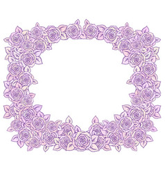 beautiful pink and lilac romantic frame vector image