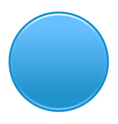 Blue circle button empty web internet icon vector
