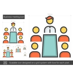 Business meeting line icon vector
