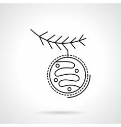 Christmas decoration flat black line icon vector image vector image