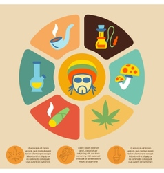 Drugs infographic set vector image vector image