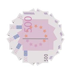 Euro banknotes vector image vector image