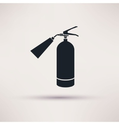 Fire extinguisher icon black on the light vector