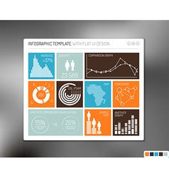 flat user interface infographic vector image vector image