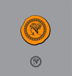 greek style logo vector image