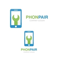 Logo of repair of phone vector